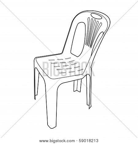Plastic Chair Outline Vector.eps