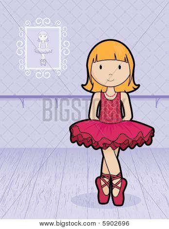 Ballerina on background