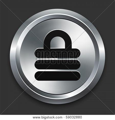 Lock Icon on Metallic Button Collection