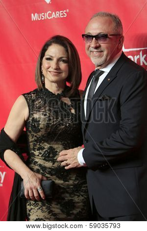 LOS ANGELES - JAN 24:  Gloria Estefan, Emilio Estefan at the 2014 MusiCares Person of the Year Gala in honor of Carole King at Los Angeles Convention Center on January 24, 2014 in Los Angeles, CA