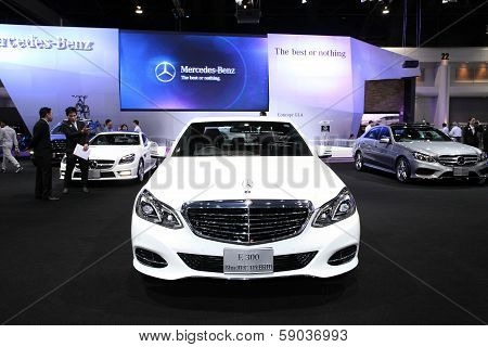Nonthaburi - November 28:mercedes-benz E 300 Bluetec Hybrid Car On Display At The 30Th Thailand Inte