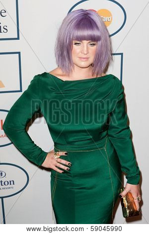 BEVERLY HILLS, CA. - JANUARY 25: Kelly Osbourne arrives at the Clive Davis and The Recording Academy annual Pre-GRAMMY Gala on January 25th 2014 at the Beverly Hilton in Beverly Hills, California.