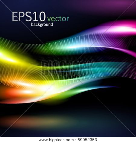 Abstract vector background with colorful waves. EPS10.