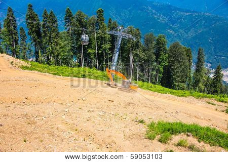 mountain slope, Krasnaya Polyana, Sochi, Russia