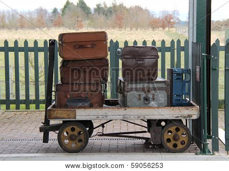 Railway Luggage Trolley.