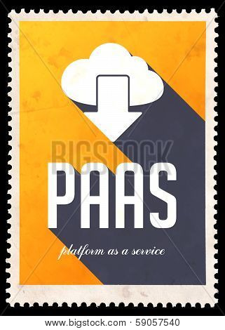 PAAS Concept on Yellow Color in Flat Design.