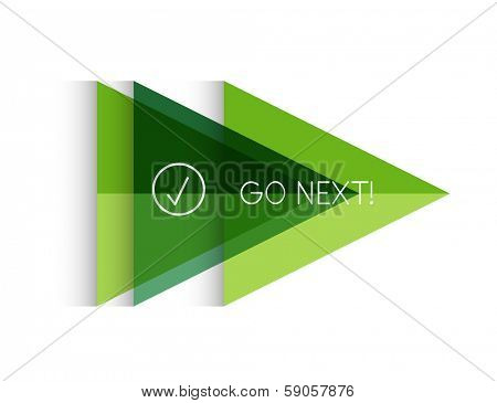 Vector color paper arrow design template for business background | numbered banners | business lines | graphic website layout vector