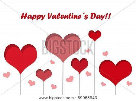 Postcard for Happy Valentine Day