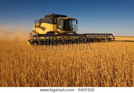 Yellow Combine Harvester