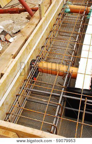 Foundation Works Showing Radon Ventilation Pipes