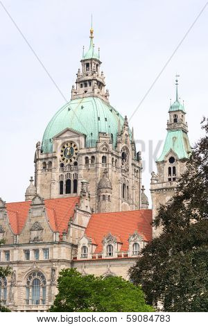 Detail Of The New Town Hall In Hanover, Germany