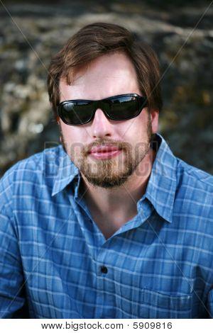 Man With Dark Sunglasses