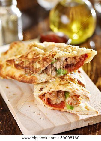 stromboli stuffed italian sandwich