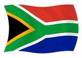 Flag of South Africa waving in the wind poster