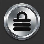Lock Icon on Metallic Button Collection poster
