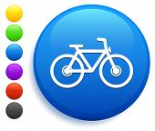 Bicycle Icon on Round Button Collection poster
