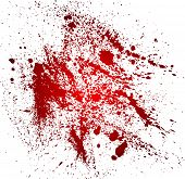 Abstract background with blood splatters. Vector illustration poster