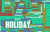 Going on Holidays or a Public Holiday as Concept poster