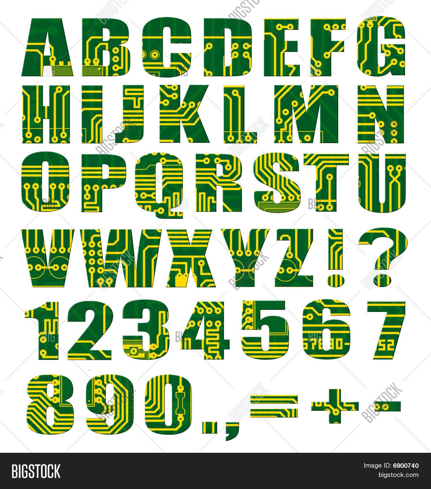 Electronic Alphabet Image & Photo (Free Trial) | Bigstock