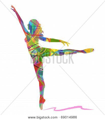 abstract  dancer on white background