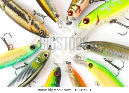 Plastic Fishing Lures Macro Shot
