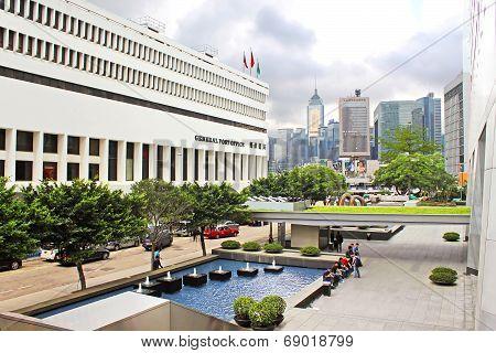 Hong Kong General Post Office Near Ifc Mall At Central Location In Hong Kong