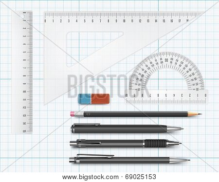 Education supply illustration