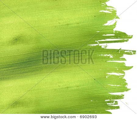 Green coconut paper with grunge brush strock edges with text space and clipping path poster
