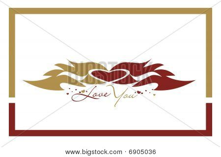 Abstract valentine's day card with space of your text, vector illustration poster