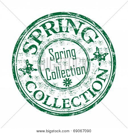 Spring grunge rubber stamp