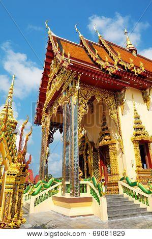 temple complex Wat Plai Laem, Samui island, Thailand poster