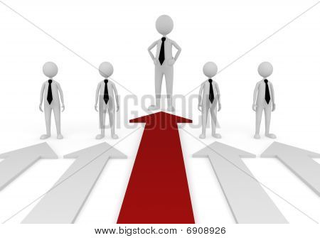Stand out in business team