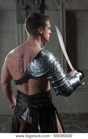 Gladiator from behind