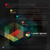 Geometric Hexagon Shape Abstract Graphic Design Infographic Layout poster