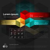 Geometric Cube Shape Abstract Graphic Design Layout poster