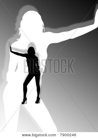 Woman Shadow And Silhouette