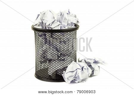 Overflowed Wastepaper Basket