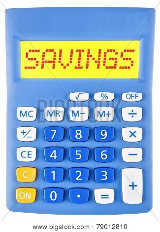 Calculator With Savings On Display