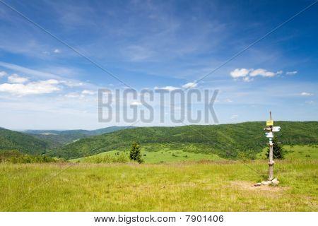 Landscape Of Beskid Niski, Poland