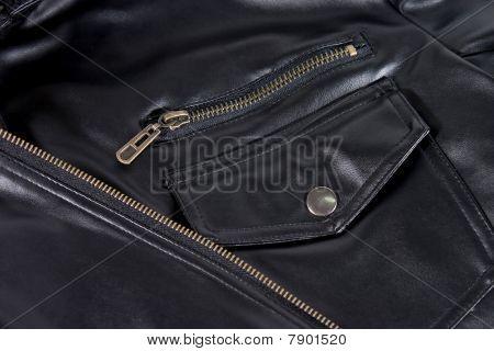 Pocket Of Leather Jacket