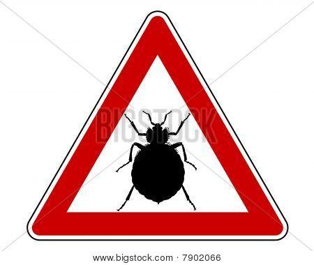Bedbug Warning Sign