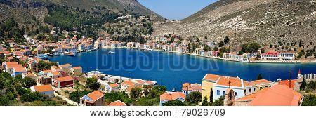 Greek Island Kastellorizo Panorama View