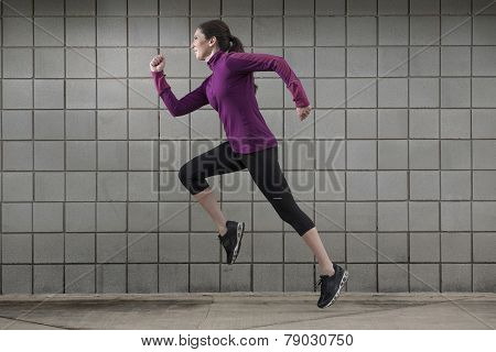 Woman Running for Fitness