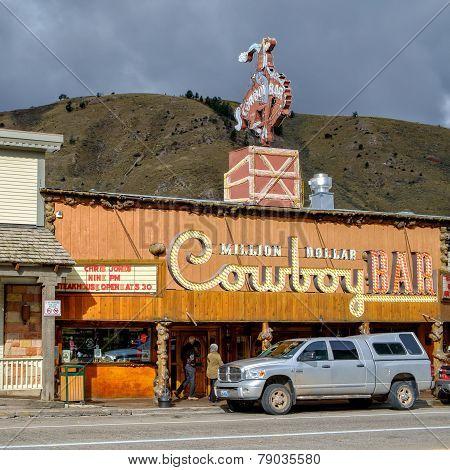 Million Dollar Cowboy Bar in Jackson,WY