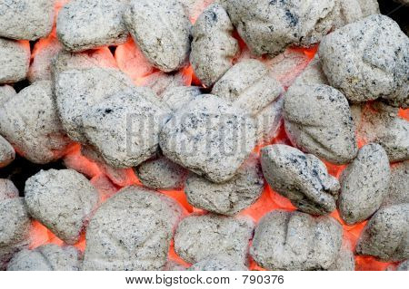 flaming barbecue charcoal