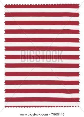 Red/White Striped Fabric Swatch