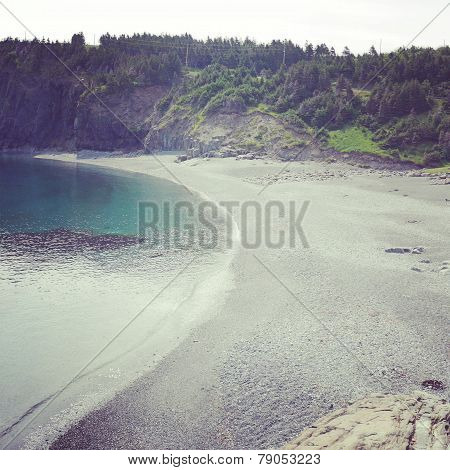 Instagram Of Scenic Ocean Landscape