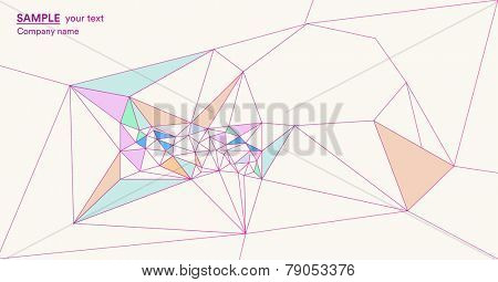 Abstract pastel color polygonal background with geometric shapes