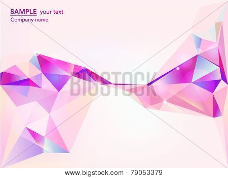 Abstract background with polygonal geometric shapes