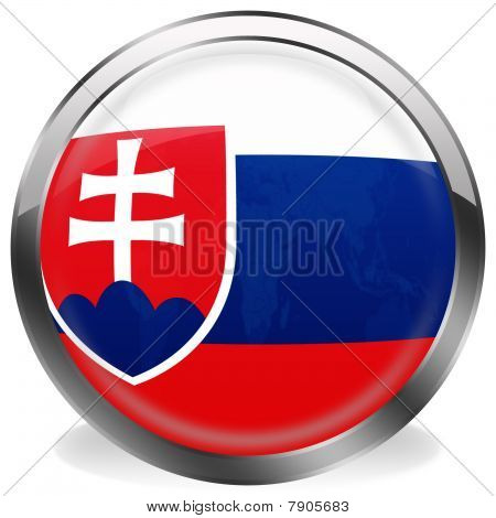 button flag of slovakia